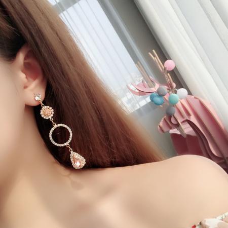 moon star dangle 925 sterling silver earrings