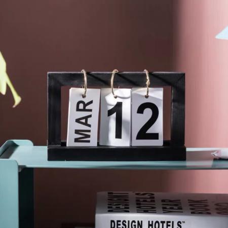 Today's The Day Desk Calendar (Black)