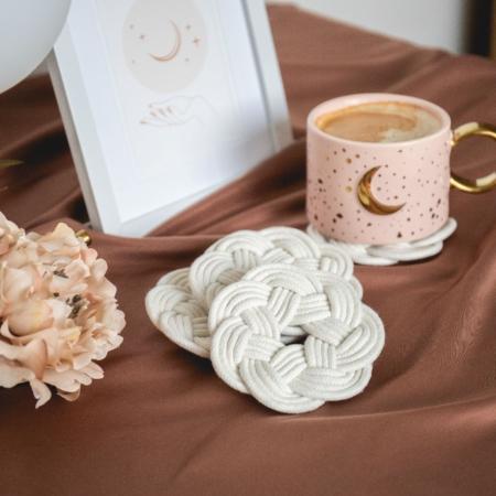 Zoey Macramé Flower Coasters